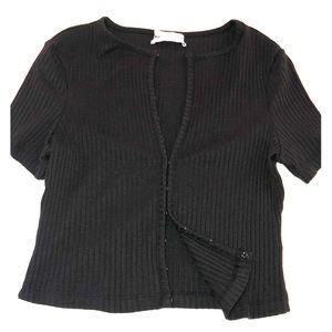 Cropped Ribbed Shirt